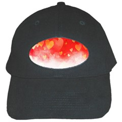 Abstract Love Heart Design Black Cap