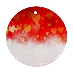 Abstract Love Heart Design Ornament (Round)
