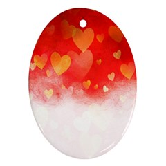 Abstract Love Heart Design Ornament (oval)