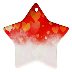 Abstract Love Heart Design Ornament (star)