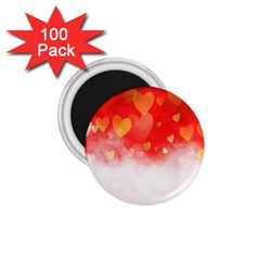 Abstract Love Heart Design 1 75  Magnets (100 Pack)