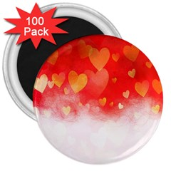 Abstract Love Heart Design 3  Magnets (100 pack)