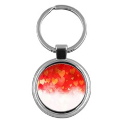 Abstract Love Heart Design Key Chains (round)
