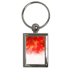 Abstract Love Heart Design Key Chains (Rectangle)
