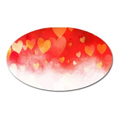 Abstract Love Heart Design Oval Magnet