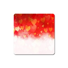Abstract Love Heart Design Square Magnet