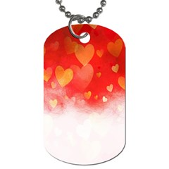 Abstract Love Heart Design Dog Tag (One Side)