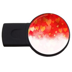 Abstract Love Heart Design USB Flash Drive Round (2 GB)