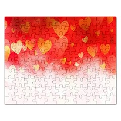 Abstract Love Heart Design Rectangular Jigsaw Puzzl