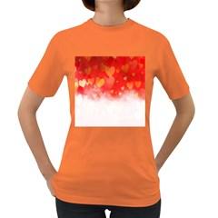 Abstract Love Heart Design Women s Dark T Shirt