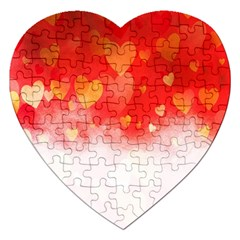 Abstract Love Heart Design Jigsaw Puzzle (Heart)