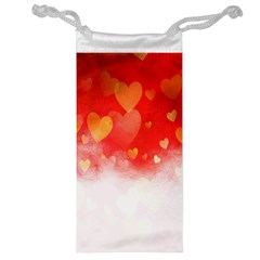 Abstract Love Heart Design Jewelry Bag