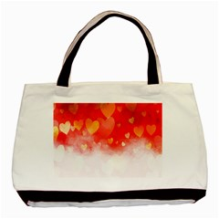 Abstract Love Heart Design Basic Tote Bag