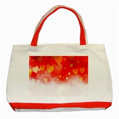 Abstract Love Heart Design Classic Tote Bag (red)