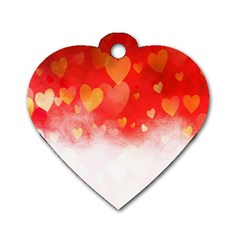 Abstract Love Heart Design Dog Tag Heart (Two Sides)