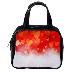 Abstract Love Heart Design Classic Handbags (one Side)