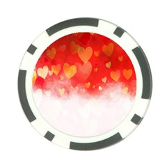 Abstract Love Heart Design Poker Chip Card Guard (10 Pack)