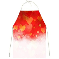 Abstract Love Heart Design Full Print Aprons