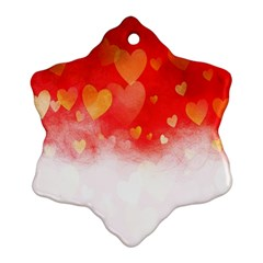 Abstract Love Heart Design Ornament (snowflake)