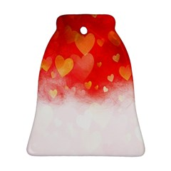 Abstract Love Heart Design Ornament (bell)