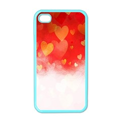 Abstract Love Heart Design Apple Iphone 4 Case (color)