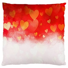 Abstract Love Heart Design Large Cushion Case (One Side)