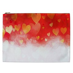 Abstract Love Heart Design Cosmetic Bag (XXL)