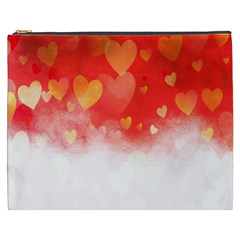 Abstract Love Heart Design Cosmetic Bag (XXXL)