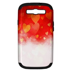 Abstract Love Heart Design Samsung Galaxy S Iii Hardshell Case (pc+silicone)