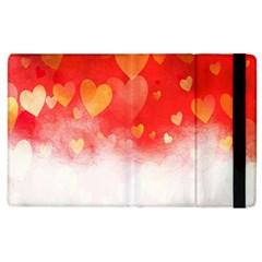 Abstract Love Heart Design Apple iPad 2 Flip Case