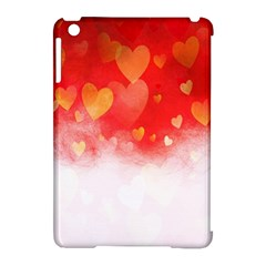 Abstract Love Heart Design Apple Ipad Mini Hardshell Case (compatible With Smart Cover)