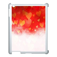 Abstract Love Heart Design Apple iPad 3/4 Case (White)