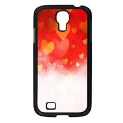 Abstract Love Heart Design Samsung Galaxy S4 I9500/ I9505 Case (black)