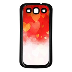 Abstract Love Heart Design Samsung Galaxy S3 Back Case (Black)