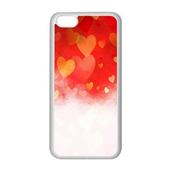 Abstract Love Heart Design Apple iPhone 5C Seamless Case (White)