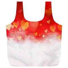 Abstract Love Heart Design Full Print Recycle Bags (l)