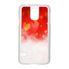 Abstract Love Heart Design Samsung Galaxy S5 Case (White)