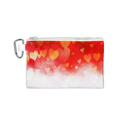 Abstract Love Heart Design Canvas Cosmetic Bag (s)