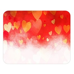 Abstract Love Heart Design Double Sided Flano Blanket (large)