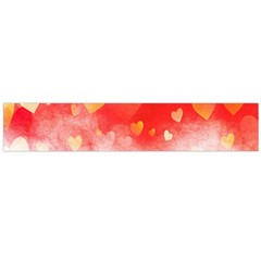 Abstract Love Heart Design Flano Scarf (Large)