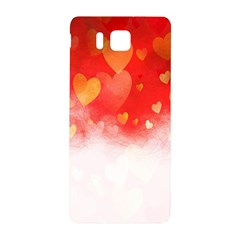 Abstract Love Heart Design Samsung Galaxy Alpha Hardshell Back Case
