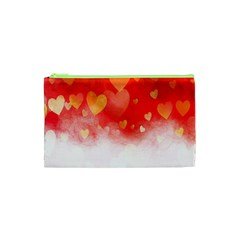 Abstract Love Heart Design Cosmetic Bag (XS)
