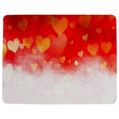 Abstract Love Heart Design Jigsaw Puzzle Photo Stand (rectangular)