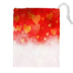 Abstract Love Heart Design Drawstring Pouches (xxl)
