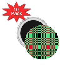 Bright Christmas Abstract Background Christmas Colors Of Red Green And Black Make Up This Abstract 1.75  Magnets (10 pack)