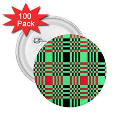 Bright Christmas Abstract Background Christmas Colors Of Red Green And Black Make Up This Abstract 2.25  Buttons (100 pack)
