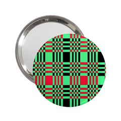 Bright Christmas Abstract Background Christmas Colors Of Red Green And Black Make Up This Abstract 2.25  Handbag Mirrors