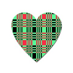 Bright Christmas Abstract Background Christmas Colors Of Red Green And Black Make Up This Abstract Heart Magnet