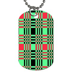 Bright Christmas Abstract Background Christmas Colors Of Red Green And Black Make Up This Abstract Dog Tag (two Sides)