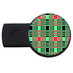 Bright Christmas Abstract Background Christmas Colors Of Red Green And Black Make Up This Abstract USB Flash Drive Round (2 GB)